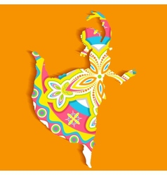 Indian classical Dancer vector
