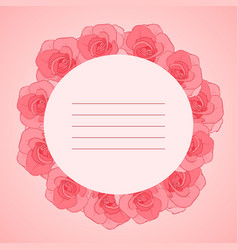 invitation cards with roses vector image