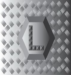 L Text Aluminium Wallpaper vector