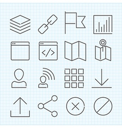 linear icons set vector image