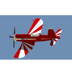 little red propeller plane vector image