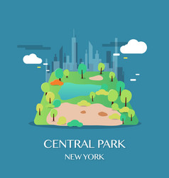 New york landmark central park vector