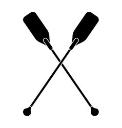 pictogram paddles crossed boat tool vector image