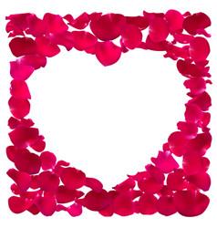 pink heart shape frame vector image