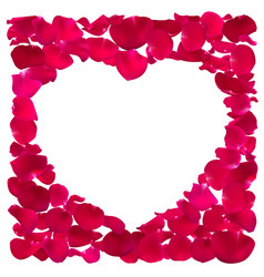 Pink heart shape frame vector