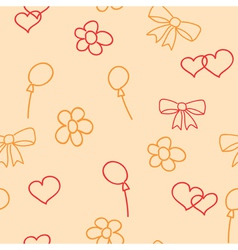 pink seamless pattern of childish picture vector image