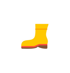 protective footwear icon flat element vector image