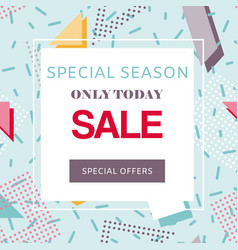 sale special offer discount on geometric vector image