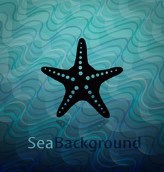 Sea background with starfish vector image