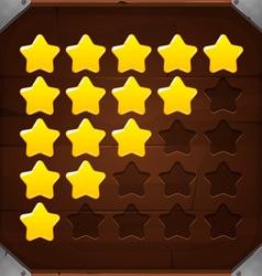 set golden rating stars vector image