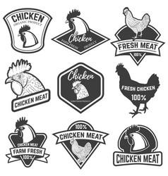 set of chicken meat labels design elements for vector image