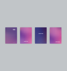 set of cover templates vector image
