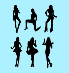 Sexy girl silhouette vector