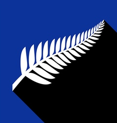 Silver fern with shadow vector