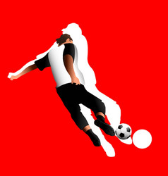 soccer player against background the vector image