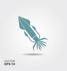 squid flat icon vector image