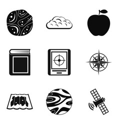 Stratosphere icons set simple style vector