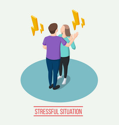 Stressful situation isometric composition vector