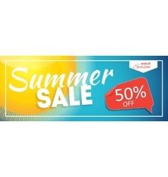 Summer Sale end of Season Banner Business vector image