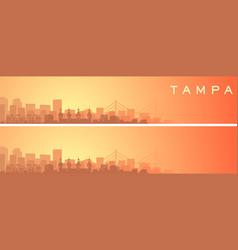 Tampa beautiful skyline scenery banner vector