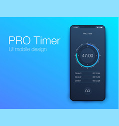 Timer application ui design concept vector