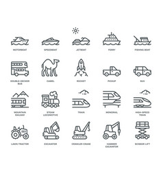 Transportation icons side view part iii vector