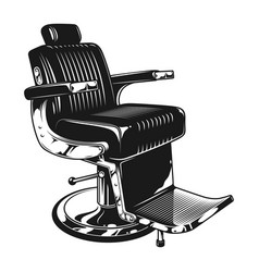 Vintage barbershop modern chair template vector