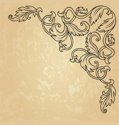 Vintage corner ornament vector