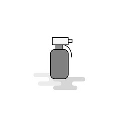 water shower web icon flat line filled gray icon vector image