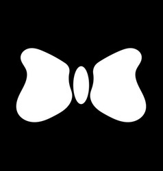 white bow tie sign 1010 vector image