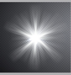 white light beam transparent light effect vector image