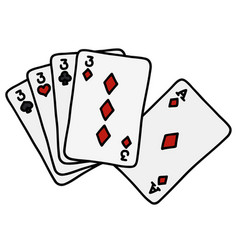 Funny poker cards vector