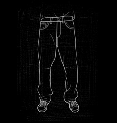 hand drawn jeans vector image