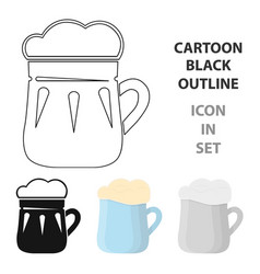 mug of beer icon in cartoon style isolated on vector image