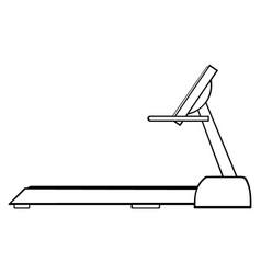 black and white cartoon empty treadmill vector image