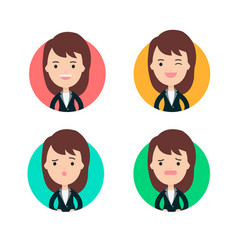 business woman profile in many expression vector image