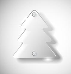 Glass Christmas tree vector image