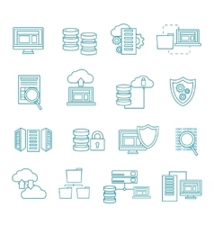 Datacenter Icon Set vector image