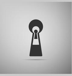 keyhole icon isolated on grey background vector image