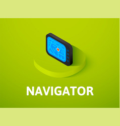 navigator isometric icon isolated on color vector image