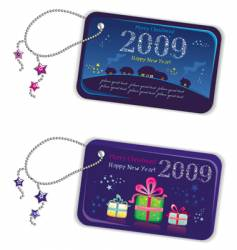 new year tags 2009 vector image