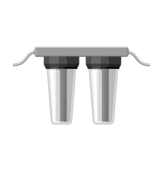 Water filters icon in monochrome style isolated on vector