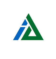Corporate letter a and i logo design triangle vect vector