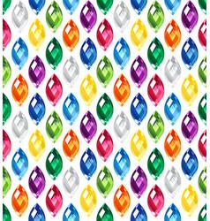jewel seamless pattern - edge stones hidden under vector image vector image