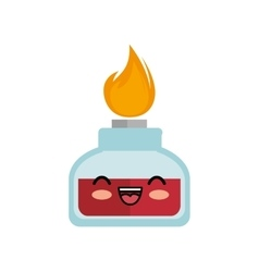 kawaii cute bunsen burner lab vector image