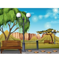 Nature scene with park and trees vector image