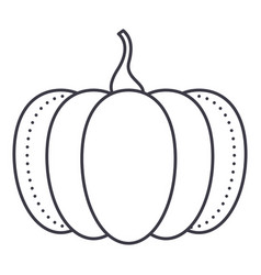 pumpkin line icon sign on vector image