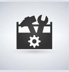 tool box flat icon vector image