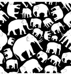 white elephants seamless pattern eps10 vector image vector image