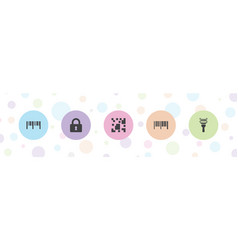 5 code icons vector